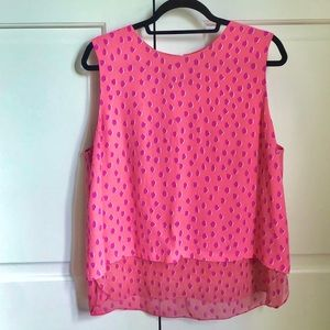 Kate Spade Flamingo Dot Double Layer Tank XL